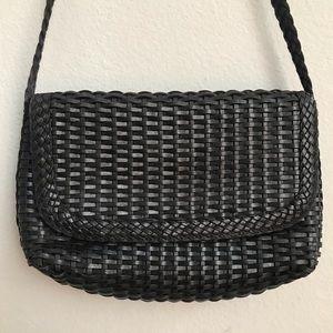 Vintage CEM woven leather crossbody purse